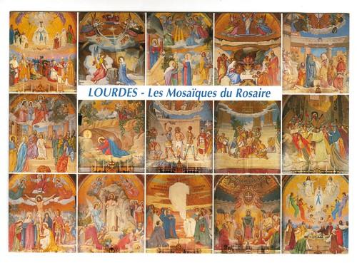Lourdes, Mosaiques du Rosaire