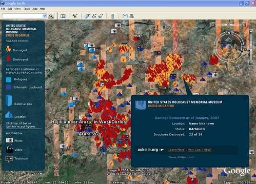Google Earth Darfur Layer
