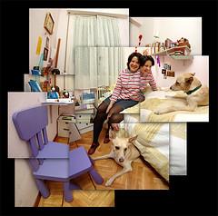 María José en su habitación