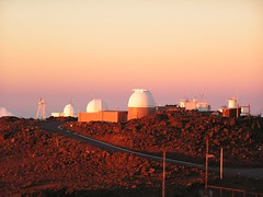 Observatories at the Top of Haleakala