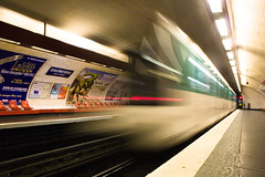 En attendant Jrmie (ole) Tags: motion paris france speed train europe nightshot metro background metropolitain explored outstandingshots bestofr