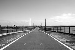 / /\ \ (shimon21) Tags: bridge bw geotagged noiretblanc australia queensland redcliffe downunder blancinegre hornibrookhighway geo:lat=27264224 geo:lon=153077922