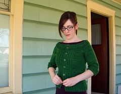 Wicked cardigan (flint knits) Tags: green sweater knitting knit merino wicked ochre cardigan worsted sundara projectspectrum zephyrstyle