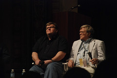 Michael Moore and Chris Hegedus