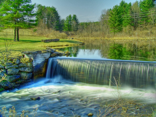 ice pond falls