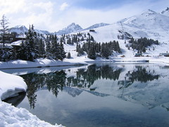 Courchevel (kuzdra) Tags: blue trees sky white lake snow france mountains nature water clouds alpes reflections landscape mirror high breathtaking courchevel montagnes antonina   naturesfinest             francelandscapes amazingamateur  bestofwinter kuzdra