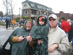 Team Schmitt at Mile 14 of the Boston Marathon