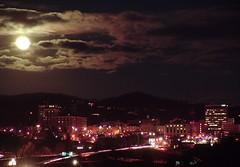 moon over asheville dark - by zen