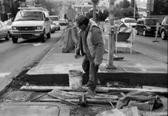 construction (constantjax) Tags: seattle bw uw 35mm construction nikon streetphotography constructionworker 50mmf18e constantjax megajax
