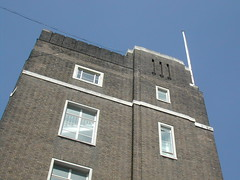 Deco RHS HQ 006 (FrMark) Tags: uk england building brick london architecture century corner hall office britain top moderne gb conference british c20 flagpole hq deco 20th streamline twentieth