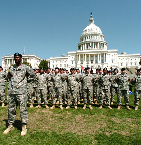 Soldiers in front of Capitol
