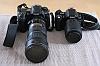 Size comparison: Nikon D40 + Nikkor 55-200mm VR vs Nikon D200 + Nikkor 70-200mm