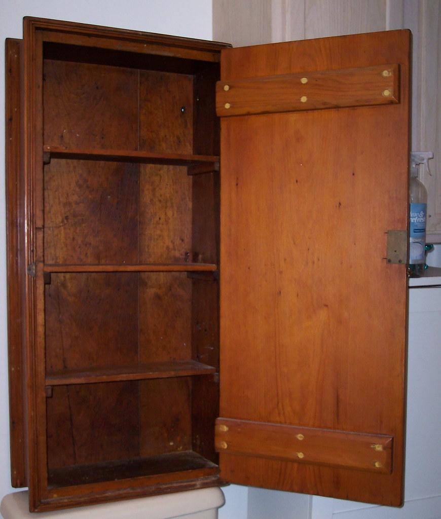 Pine cabinet open