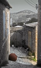 Street in Lefkara - by LaRezistance