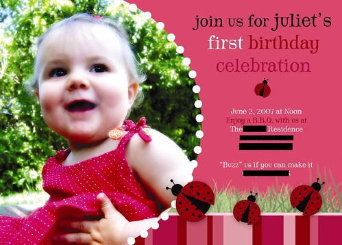 Baby card expressions custom photo birth announcements holiday ladybug photo birthday invitation ladybug photo birthday invitation posted by stacey baby card bookmarktalkfo Images