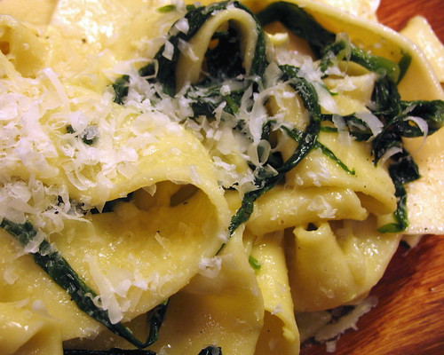 fresh pasta with ramps