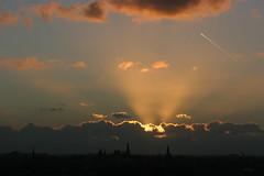 Sun behind Clouds, Amsterdam (Erwyn van der Meer) Tags: amsterdam thenetherlands northholland