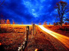 Golden Daze (rcvernors) Tags: orange art field clouds digital photoshop altered landscape geotagged golden scenery digitalart surreal wv westvirginia computerart modified aw allrightsreserved photoshopart artisticexpression pocahontascounty rcvernors abigfave woodrowwv