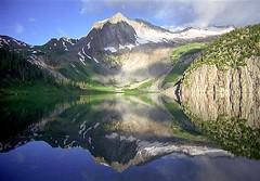 Snowmass Lake (photo61guy) Tags: mountains nature reflections landscape colorado lakes reflexions maroonbells mtr smrgsbord wonderworld supershot 5photosad
