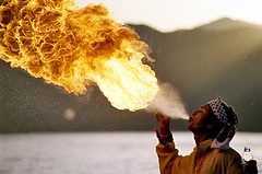 Fire thrower - khanpur , Pakistan (Umair Jangda) Tags: pakistan fire flame lahore peopleschoice khanpur