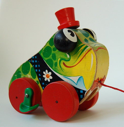 fisher-price gran'pa frog #464 (1958)