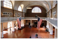 The Great Hall, Ellis Island Museum, New York City Harbor (Scandblue) Tags: newyorkcity usa newyork history museum architecture america flag historic american immigrants immigration starsandstripes ellisisland ins greathall historicbuilding immigrationandnaturalization yourcountry