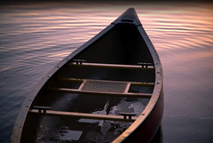 The rains have stopped. The winds have calmed. We return to the water. (cbonney) Tags: sunset river peaceful calm canoe lynnhaven