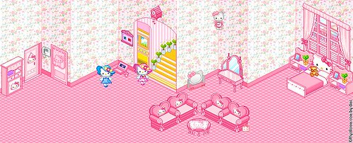 Thumb Habitación de Hello Kitty en Pixel art