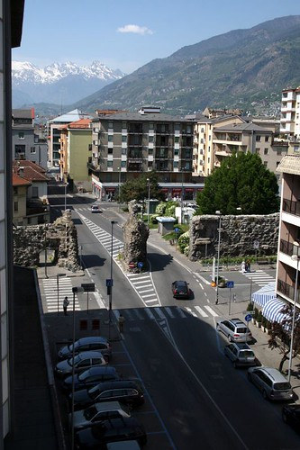 View from our Hotel Window, Aosta
