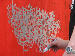 SUN7 @ Work (tofz4u) Tags: streetart paris writing live tag performance criture artderue 75011 explored sun7 sunseven