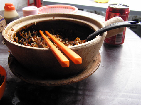 Claypot chicken and rice from KL