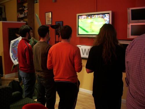 Jugando al Mario Strikers Charged Football...