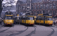 Amsterdam Central Station February 1984 (Stephen Rees) Tags: netherlands amsterdam tram gvb stationsplein 10millionphotos map10 bolneuzen