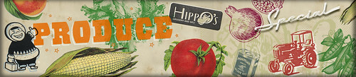 Hippo's Produce Wall Mural 5' x 23'