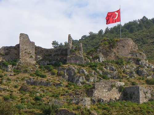 Roman ruins on Fethiye hillside