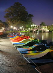 Putting the paddleboats to bed (blmurch) Tags: color argentina twilight buenosaires row line palermo paddleboats project365 photo365 palermopark 052007
