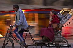 Bodhgaya, India - Bicycle rickshaw ride (photongo) Tags: travel india tourism festival temple worship meditate buddha buddhist monk buddhism tourist unesco worldheritagesite study monastery retreat monks meditation enlightenment bihar bodhgaya mahabodhi bodhitree gautama dangngo enlightenedone