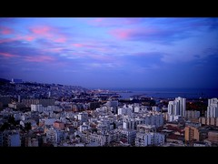 Alger... (PointDZ) Tags: city sunset sea panorama port coast algeria mediterranean cityscape capital capitale algerie casbah algiers alger  pointdz aurassi