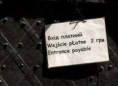 Three language notice (Anatoliy Odukha) Tags: lviv lvov lwow