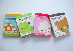 :: Q-lia :: mini memos (Warm 'n Fuzzy) Tags: bear cute mushroom pig memo kawaii clover stationery qlia memopad minimemo