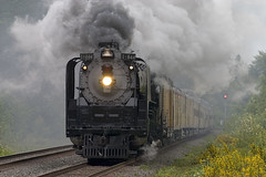UP 844 and steam at Dodson - by ahockley