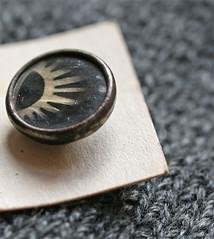 Buttons for Jason (poppalina) Tags: button motherofpearl wood vintage antique 1920s artdeco deco rising sun inlay inlaid black grey gray card shula poppalina sunburst pearl