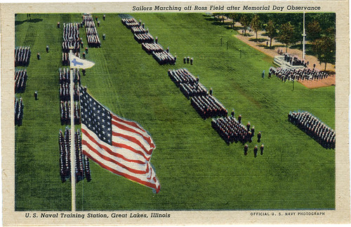 Postcard: Great Lakes Training Base, Memorial Day