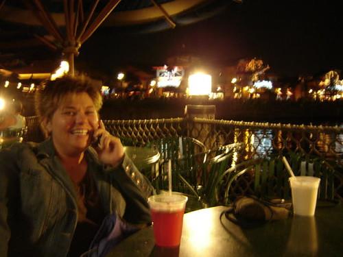 Shazannon, drinking.