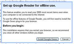 google reader offline setup