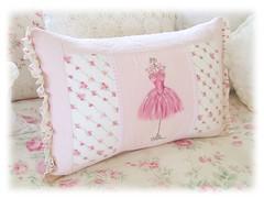 Ballerina Cushion (Natasha Burns) Tags: ballet ballerina hand painted pillow made cushion tutu shabbychic