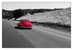 Old times (snake.eyes) Tags: auto california red usa white black car america canon blackwhite amrica highway united powershot states kalifornia snakeeyes a60 autostrada estados unidos czerwony samochd ameryka stany czerwone abigfave anawesomeshot zjednoczone photomiami