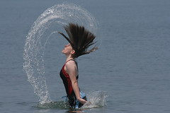 Hair Wave (Ninja Mom) Tags: beach water hair fun leah goderich top20waterhair