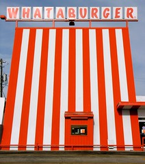Whataburger (O Caritas) Tags: orange white austin restaurant texas stripes fastfood 2006 drivethru february whataburger drivethrough nikoncoolpix8800