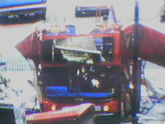 Double Decker Bus (me vs gutenberg) Tags: uk unitedkingdom england london tv television screen interlace scanlines bbc beeb terrorism doubledeckerbus 070705